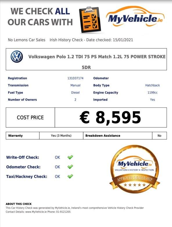 2013 Volkswagen Polo TDI